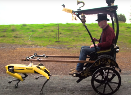 Robot-pulled steampunk carriage (builder project).