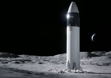 Elon Musk's SpaceX selected by NASA to land next human mission on the Moon (space news).