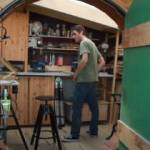 The British Ikea worker who constructed a £2000 hobbit hole in his back garden (video).