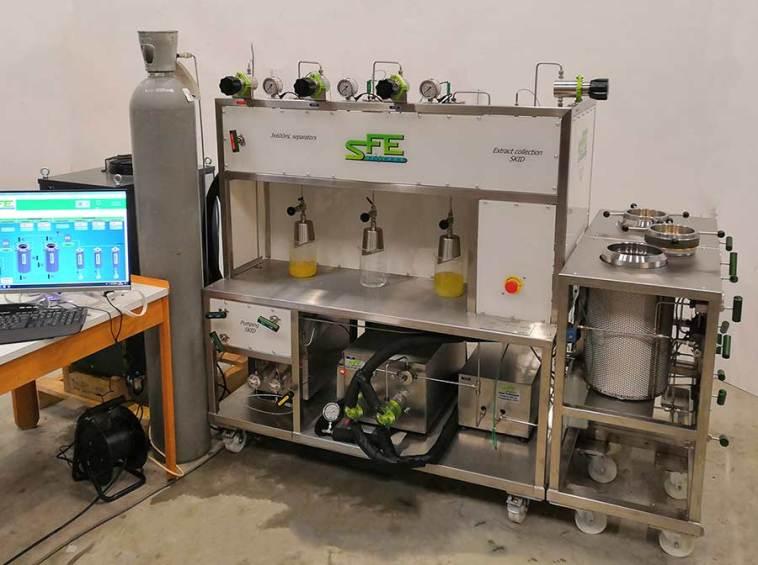 Supercritical equipment 2X5L 2 400bar - sfe process