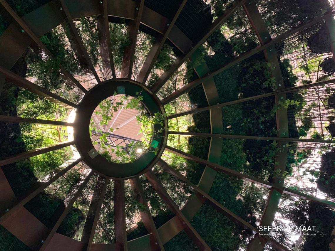 Natuurlijk zonlicht nagebootst in de ecodome. De Heijmans kopstand op de Provada vastgoedbeurs is gebouwd door Sfeer op Maat