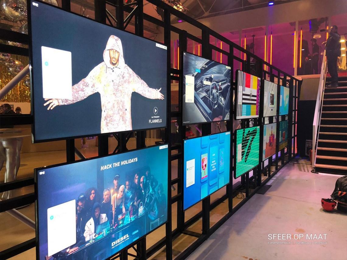 Industriële LCD wand