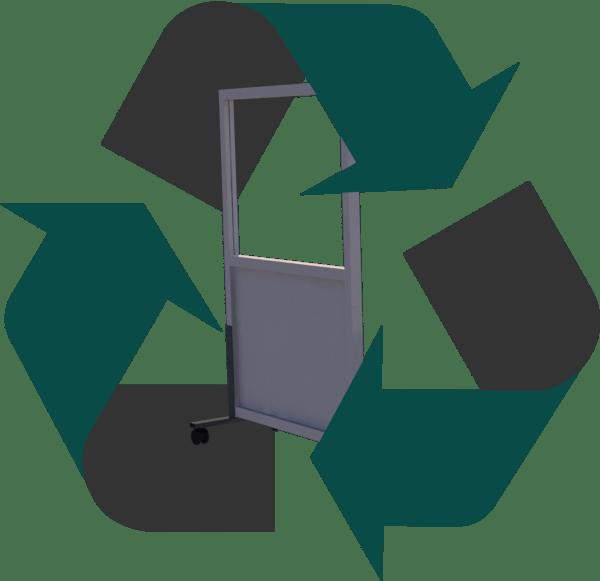 recycle icon met coronascherm