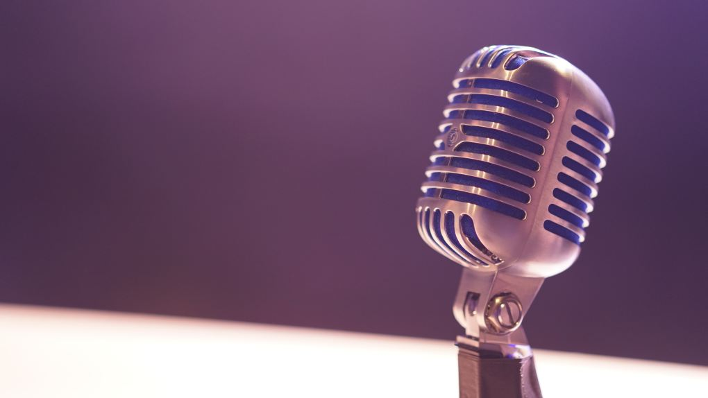 Arty shot of a microphone. Representing singing lessons at SFE Music School