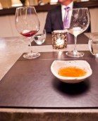 Poussin broth served at the table before the chicken