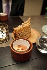 Silken chocolate pannetone with pralines