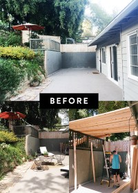 my patio: before + after. | sfgirlbybay