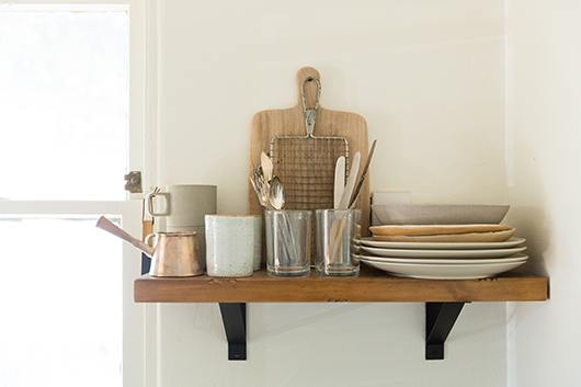 kitchen shelf with dishware / sfgirlbybay