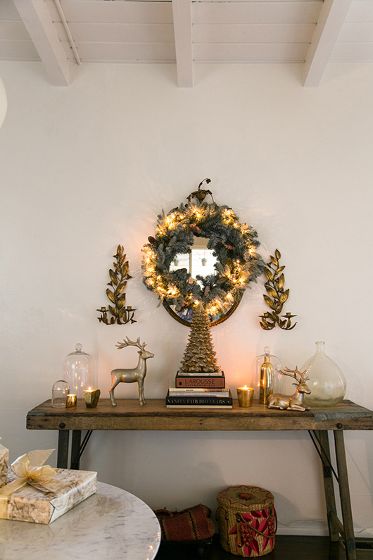 martha stewart gold holiday decor / sfgirlbybay