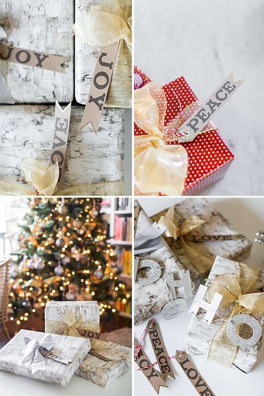 stylish wrapping paper, bows and gift tags from pier 1 imports / sfgirlbybay