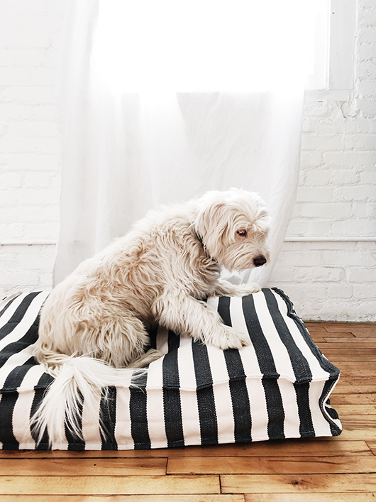 striped dog bed by dash & albert / sfgirlbybay