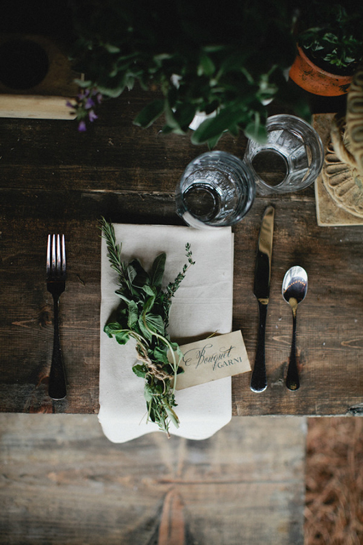 thanksgiving herb table setting / sfgirlbybay