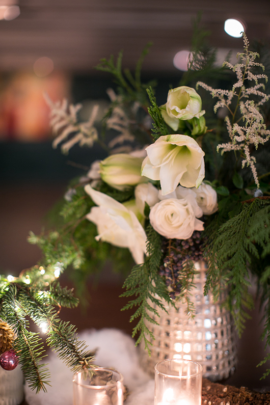 holiday floral arrangement for skyy holiday party / sfgirlbybay