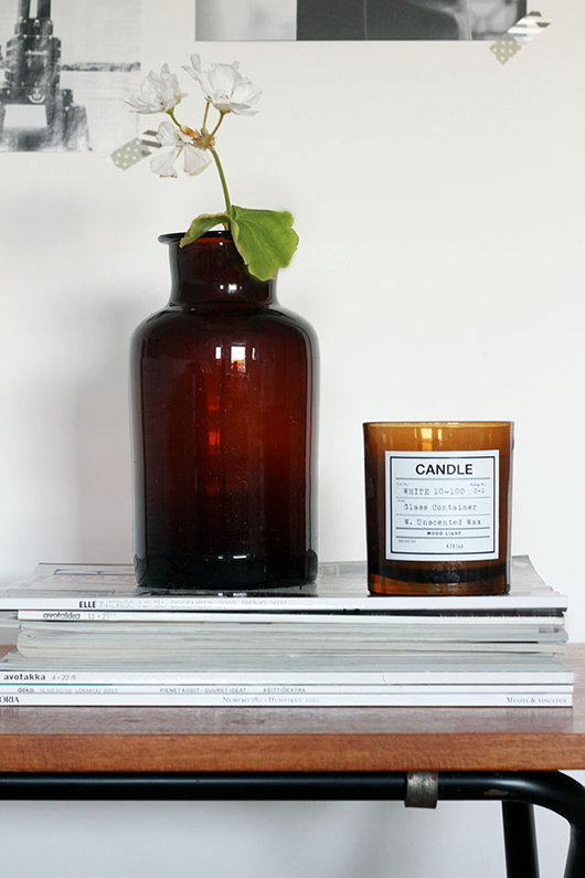brown glass jar and candle / sfgirlbybay