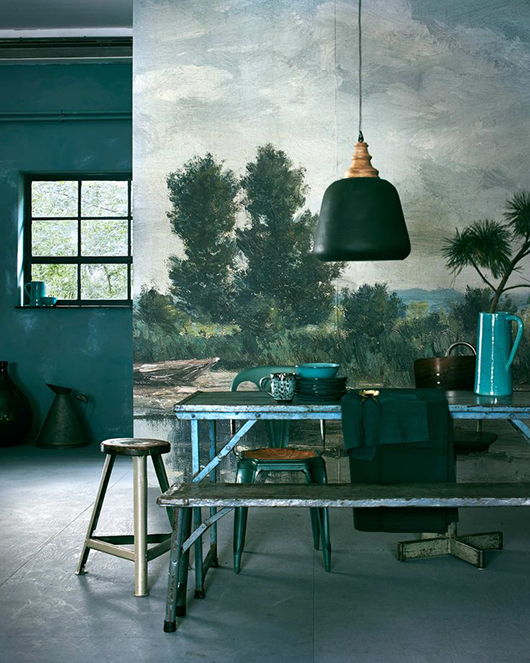 moody decor in various shade of green / sfgirlbybay