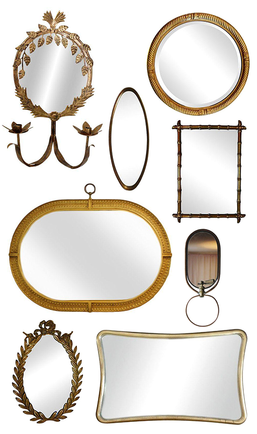 vintage mirrors from chairish / sfgirlbybay
