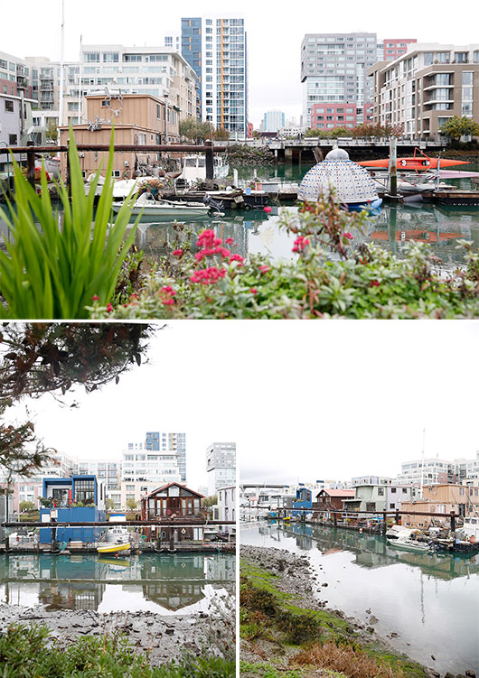 houseboats in mission creek marina / sfgirlbybay