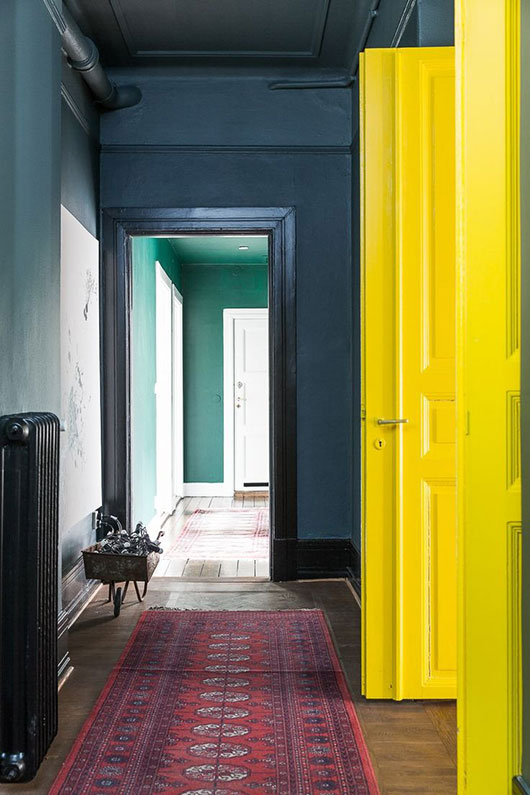 bright colorful hallway paint / sfgirlbybay