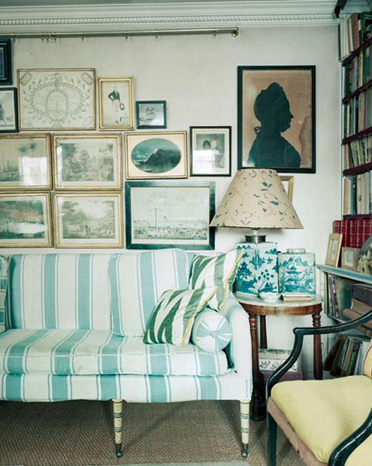 teal striped sofa / sfgirlbybay