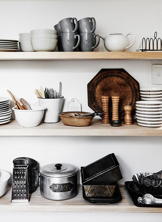 open shelves and dishware at the estate trentham / sfgirlbybay