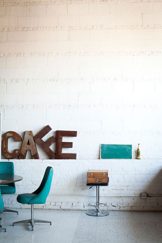vintage cafe letters / sfgirlbybay