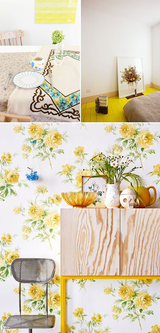 yellow home decor with 70's vibe / sfgirlbybay