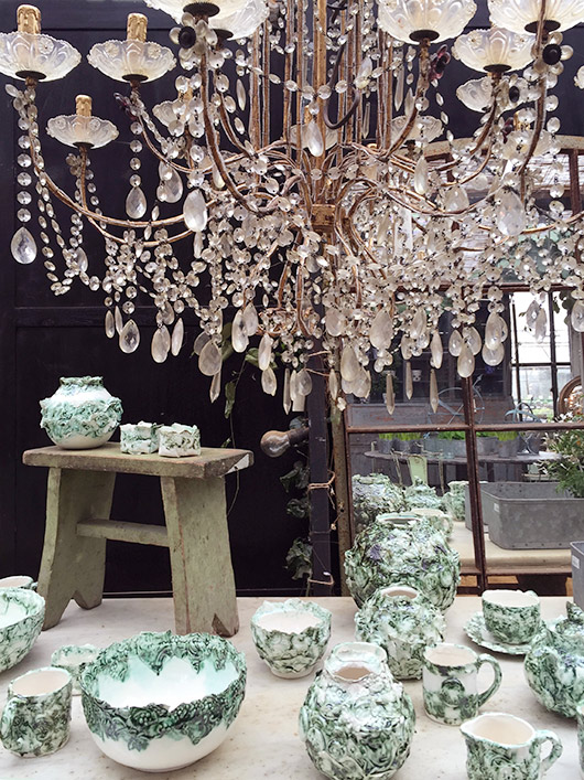 chandelier and decor at petersham nursery. / sfgirlbybay