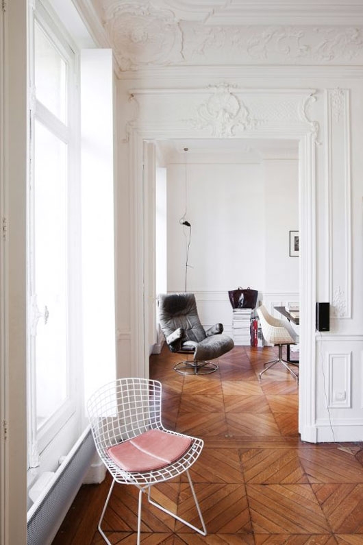 interior with a hint of nude via vogue. / sfgirlbybay