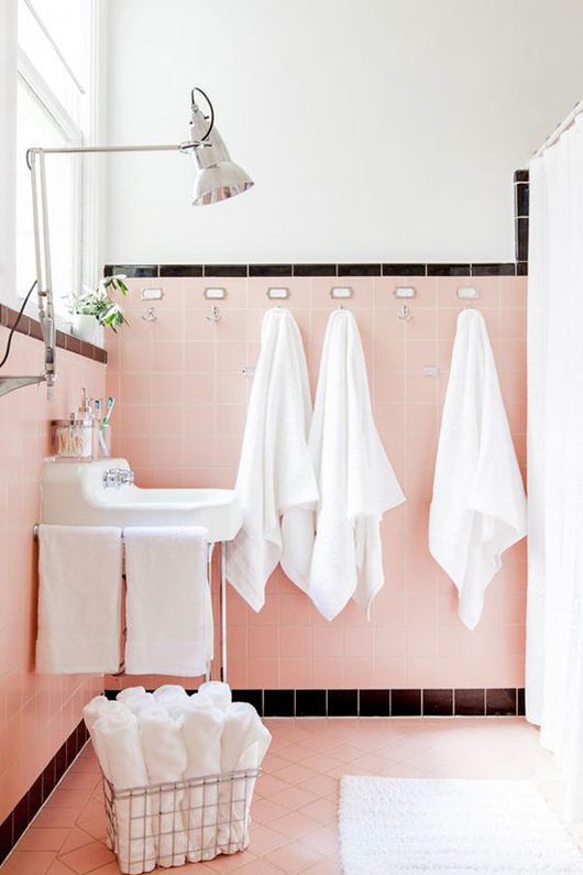 pink oh happy day! bathroom makeover. / sfgirlbybay