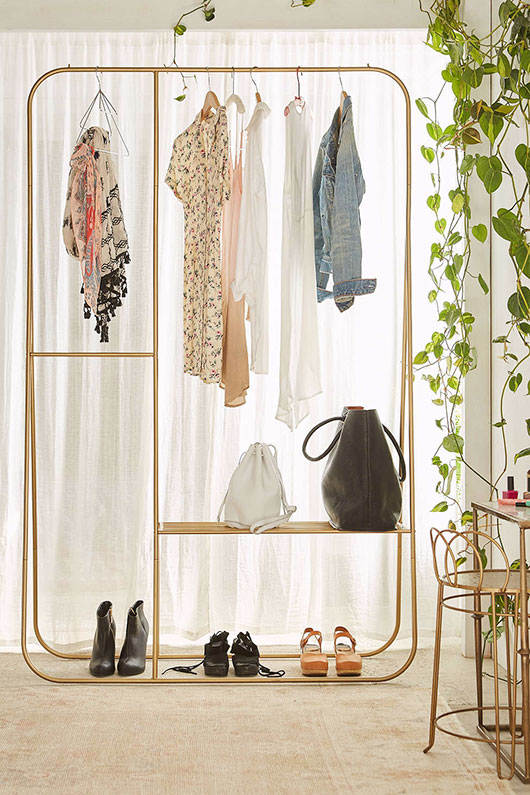calvin double clothing rack from urban outfitters. / @sfgirlbybay