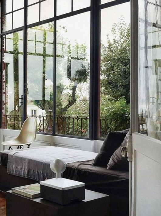 tall black steel frame windows / sfgirlbybay