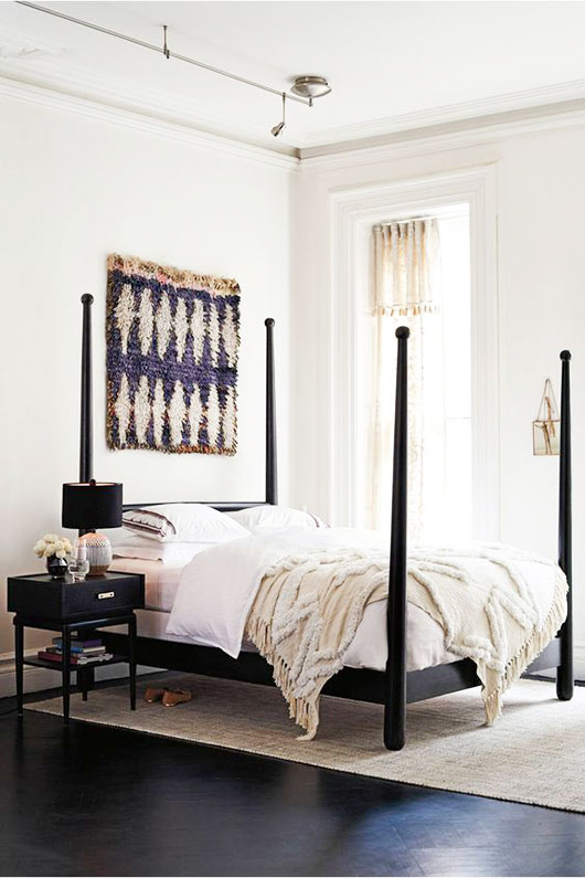 roseford bed with neutral bedding via anthropologie / sfgirlbybay