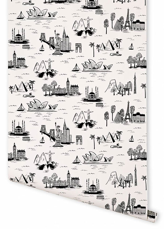 rifle paper co.'s black & white city toile. / sfgirlbybay
