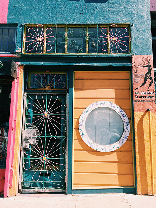 colorful store exterior image from See San Francisco by Victoria Smith. / sfgirlbybay