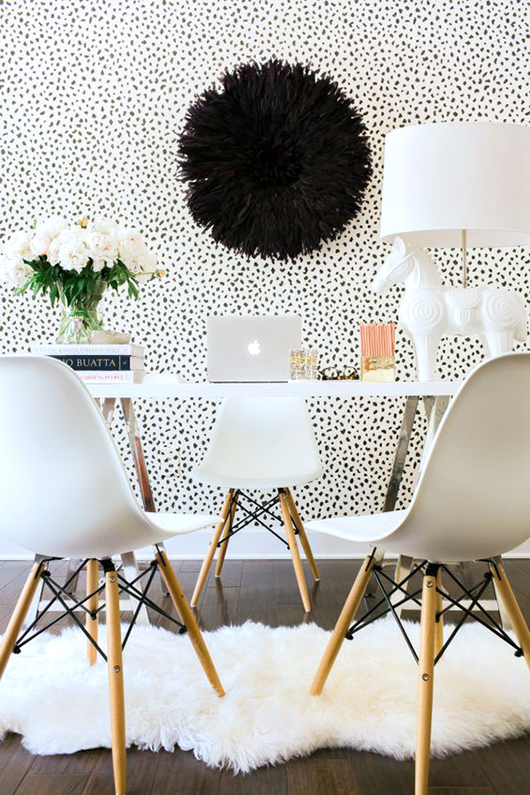 office with tanzania wallpaper from Thibaut design. / sfgirlbybay