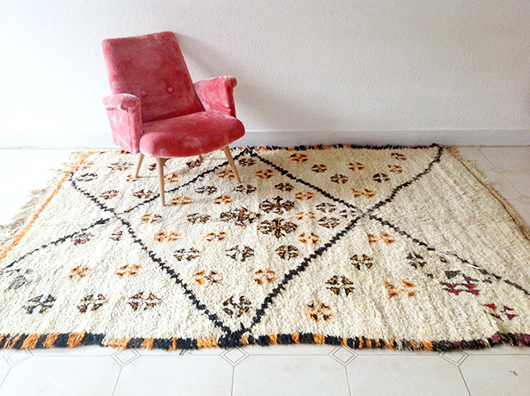 moroccan shag rug from The Sunny Side & Co. / sfgirlbybay