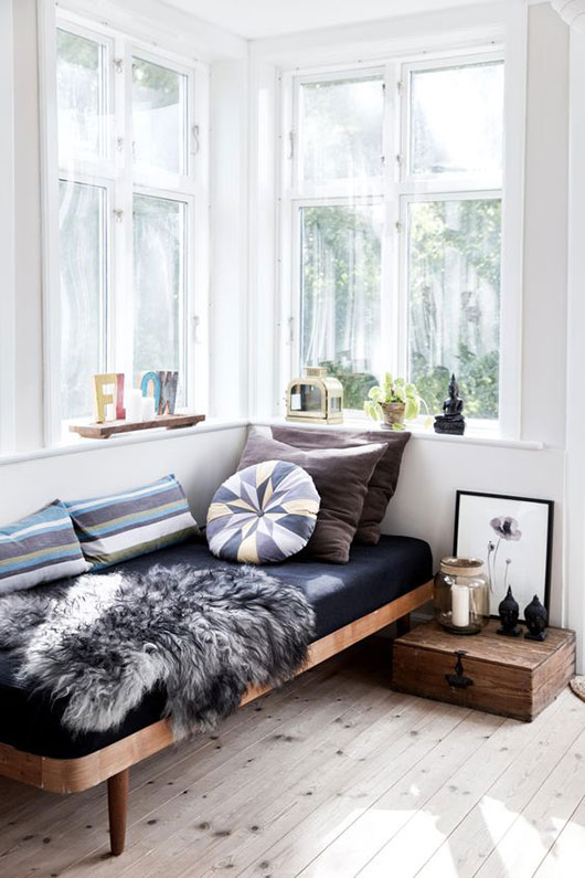 simple gray and blue and white color palette and decor via kk living. / sfgirlbybay