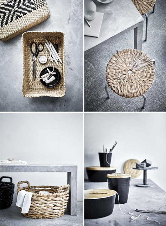 woven accessories and homewares from IKEA's new VIKTIGT collection. / sfgirlbybay
