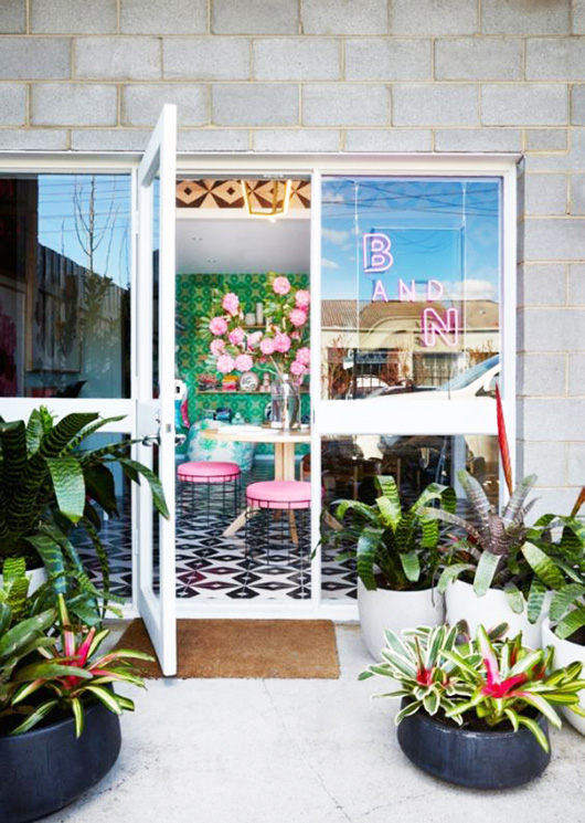 bonnie and neil store entrance in melbourne via vogue living australia. / sfgirlbybay