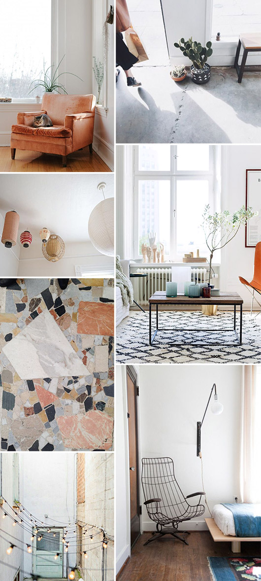 room color pallattes using pops of cool blues and hints of pale peachy blush and orange / sfgirlbybay