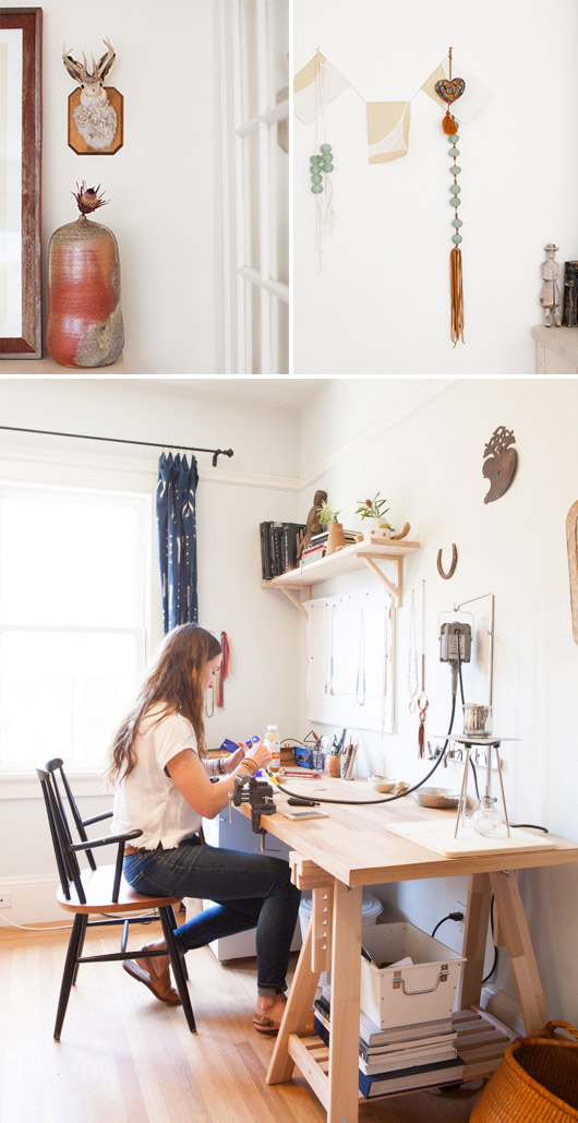 oakland home tour of jewelry designer / sfgirlbybay