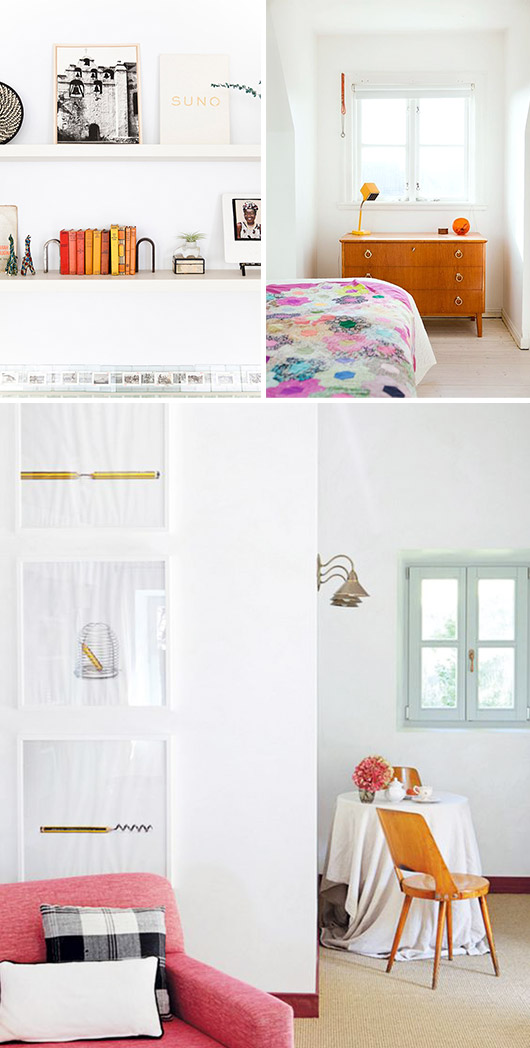light and bright modern decor in white spaces / sfgirlbybay