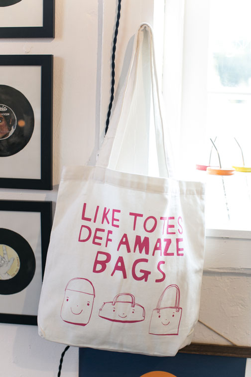 clever tote bag on display at hemingway & pickett in los angeles / sfgirlbybay