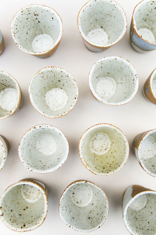 ceramic cups by Knotwork LA / sfgirlbybay