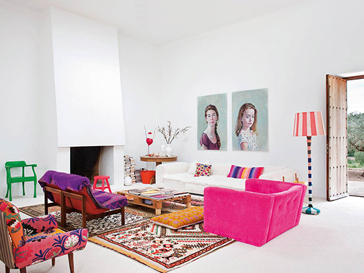 bright and colorful home decor / sfgirlbybay