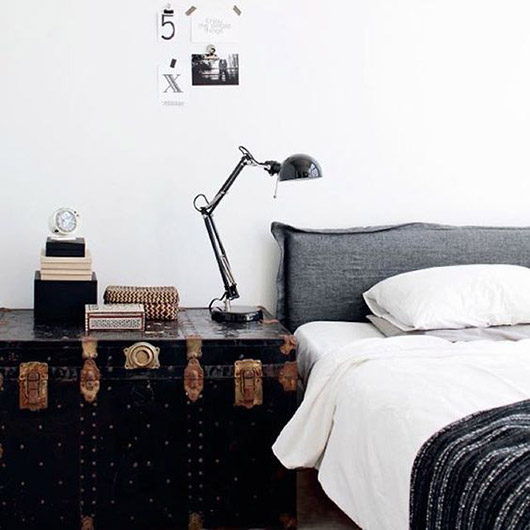 trunk as bedside table / sfgirlbybay