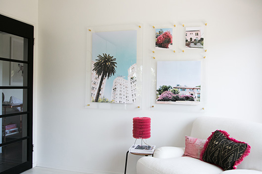 float frames with brass bolts / sfgirlbybay