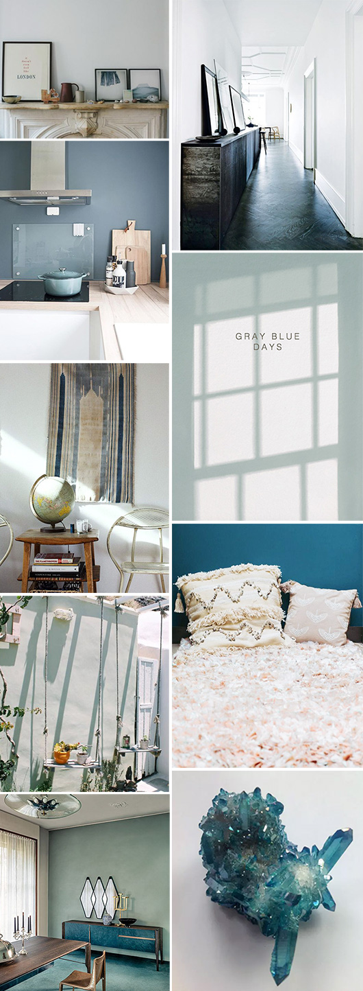 gray blue home decor inspiration / sfgirlbybay