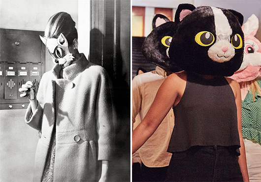 audrey heburn in cat head costume from Breakfast at Tiffany's / sfgirlbybay