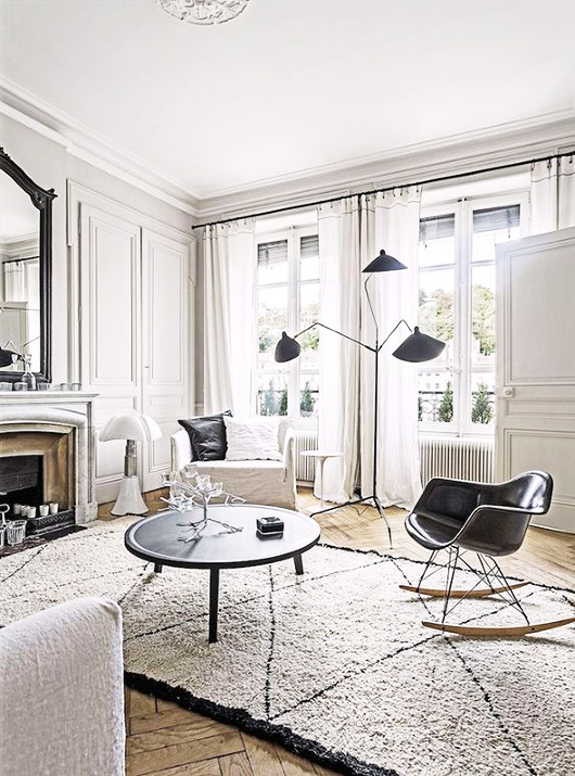 french apartment with serge mouille light fixture / sfgirlbybay